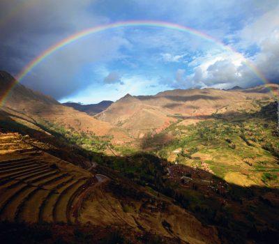 Full Rainbow at Pisac – Peru