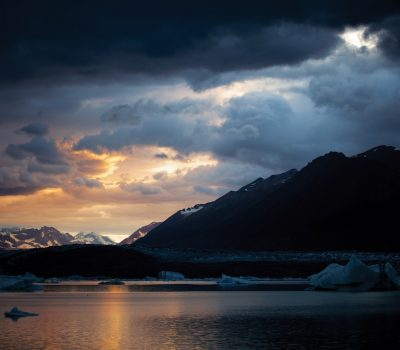 Sunset At Lowell Glacier